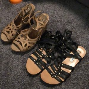Steve Madden and Not Rated Sandals 8/8.5